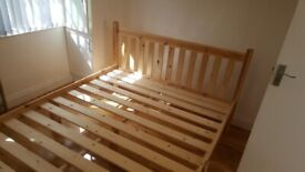 Brand new double Farmhouse Style Wooden Bed Frame