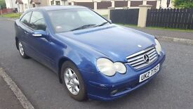mercedes c 220cdi coupe 500 £ ono