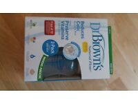 Dr Browns colic reducing bottles