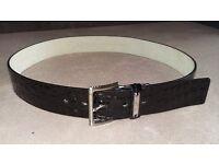 Michael Kors Black leather belt - Large