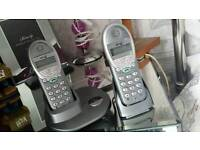 Twin house phones ( text or email)