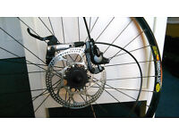 "Rear Wheel 26"" and 9 speeds brand Mavic with Deore disk brake"