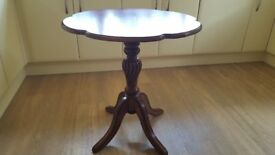 Dark wood occasional table