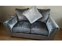 BLACK FRIDAY SALE!!! Brand new Crushed Velvet Sofa Silver DELIVERY AVAILABLE