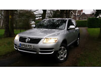 2005,Volkswagen Touareg 2.5 TDI 5dr,low mileage 94k only,new MOT,sat nav,Excellent drive and price!