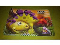 3D Dinosaur Non Slip Placemat LEAH Xmas/Birthday gift
