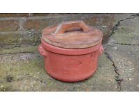 Vintage 'Hemstock' Terracotta Clay Container Pot