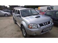 Nissan Navara Crewcab Pick-up 2002-52-reg, 2.5 turbo diesel, 143,000 miles, New MOT