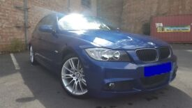 BMW 320d M SPORT 335d REP 4 DOOR SALOON IN LE MANS BLUE WITH BLACK LEATHERS
