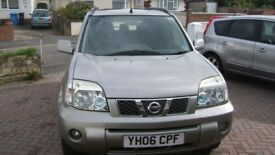 Nissan X-Trail 2.2 dCi diesel, 2006, 82000 miles, MOT to May 2019, towbar, cruise, leather seats