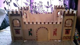 Kids wooden castle