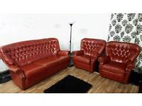 New chesterfield 3 seater with 2 chairs**Delivery available**