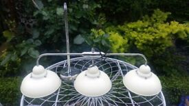 Light Fittings- Cream. Great Condition. Adjustable Height.