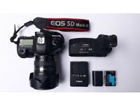 Canon EOS 5D Mark III with 24-105mm Lens, Grip, 2 Batteries and Charger