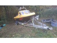 wilson flyer 17ft, ex rnli Yamaha 75hp