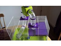 Hamster Cage & Accessories - excellent condition - includes hamster ball