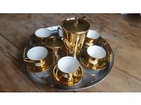 1950's Gold Coffee Service