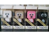 Dancing Robot Dog Stereo Bass Speakers