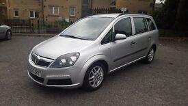 2005 55 REG VAUXHALL ZAFIRA 1.6 LIFE (LONG MOT 09/17) FULLY SERVICED HPI CLEAR GREATFAMILY CAR