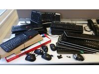 Selection of 20 mixed keyboard and mice