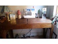 Wooden Desk (Length 122.5cm x Width 61cm, 73cm height)