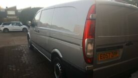 Mercedes Vito 111 CD! LWB, 57 plate. Comes with towbar and shelving.