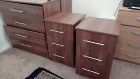 1 chest and 2 bedside cabinets