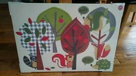 Brand new woodland animal canvas print