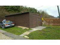 24ft by 12ft wooden garage