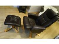 Massage Chair & Foot Stool
