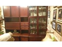 Solid Mahogany Lounge Display and Storage Units