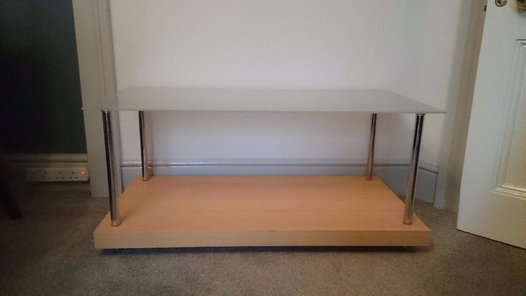REDUCED* Coffee table, glass and wood,