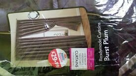 Brand new x2 pairs of readymade fully lined curtains