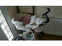Babystyle pram with pushchair detachment