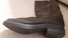 Size 4 Knee length leather boots