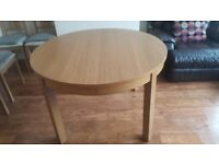 Ikea Bjursta Round Dining Table and Chairs