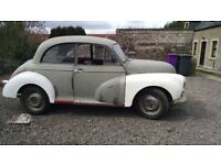1957 Morris Minor For Sale, running and driving lots of work has been done.