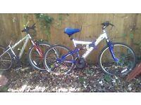 2 mens bikes spares repairs 2 bikes £15