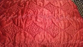 Red colour qualited bedspread double / king