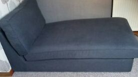 Kivik (Still Selling at Ikea) Chaise Longue / Bed / Seating Area and Footstool. Excellent Condition.