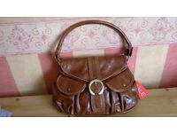 Ladies New With Tags Tan Medium Sized Hand Bag