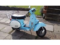LML STAR DELUXE 125 CC 2 STROKE SCOOTER BLUE NEW MOT VERY LOW MILEAGE