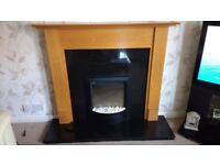 Fire surround and electric flame effect fire with remote control