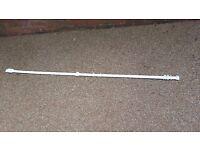 """White plastic curtain rail 70.5"""" long"""