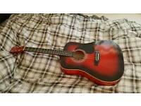 Falcon Redburst Acoustic Guitar