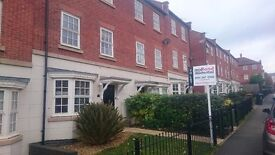 THREE BEDROOM NEW BUILD TOWN HOUSE WITH GARAGE EN-SUITE AND TWO RECEPTIONS PRICED AT £950PCM
