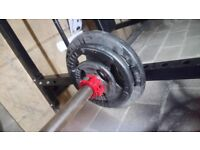 Olympic Barbell & 70KG Weights