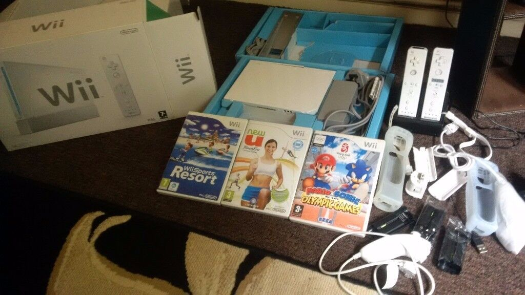 Wii Console + games & accessories - Boxed