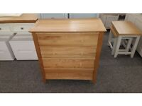 Salerno Oak 4 Drawer Chest By Julian Bowen Can Deliver