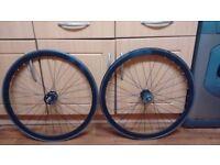 700c Black single speed/Fixie wheelset